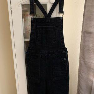 Brandy Melville black denim overalls